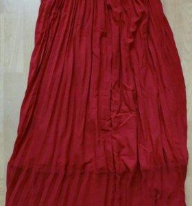 Юбка длинная женская красная и белая Tom Farr
