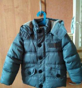 Куртка Zara 104р+шапка