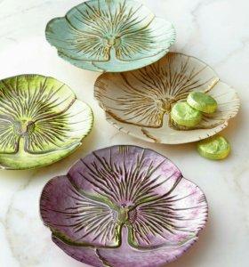 Декоративные тарелочки для десерта или канапе 4шт