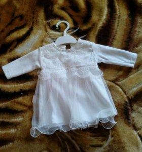 Платье на девочку (3-6 мес)