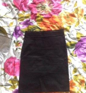 Чёрная юбка-карандаш 40-42-44р