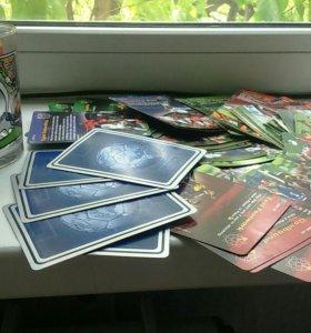 Стакан футбольный с карточками футболистов