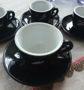 Кофейный набор комплект чашки блюдца