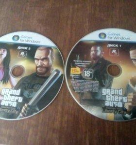 Диск игры Grand Theft Auto 4 Liberty City