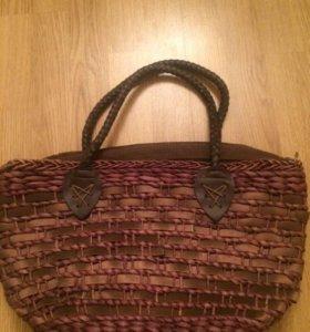 Пляжная соломенная сумка новая