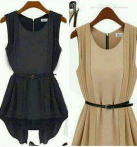 Блузка новая, черная