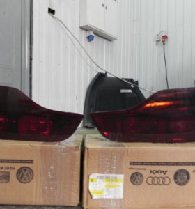 Задние фонари на Audi Q7 дорестайлинг
