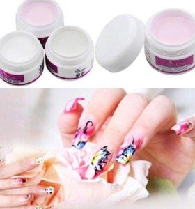 Новая акриловая пудра для ногтей розовая