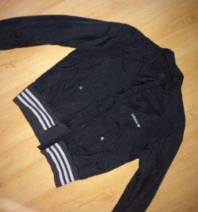 Адидас куртка накидка ветровка бомбер