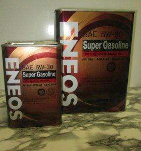 Акция! 4+1л Масло Eneos Super Gasoline 5W30
