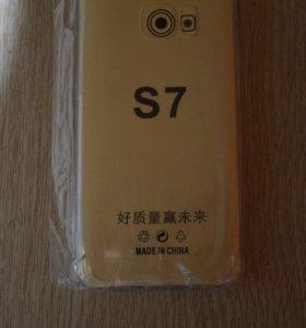 Светящийся силиконовый чехол Samsung S7