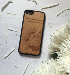 Чехол из дерева айфон 6