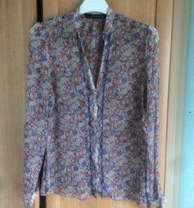 Блузка шелковая ZARA р.42