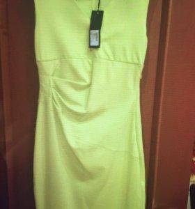 Новое Платье желтое Италия 44-46