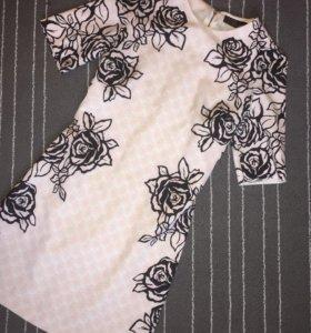 Платье love republic розовое с цветами