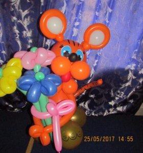 Зверюшки из шаров