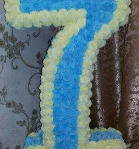 Цифра 7 на день рождения