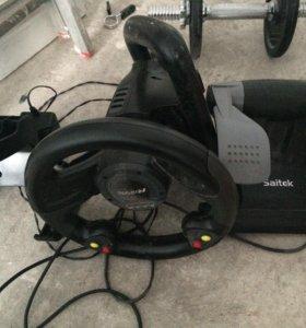 Игровой руль с педалями Saitek r440
