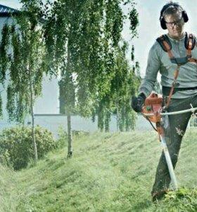 Скос травы триммером