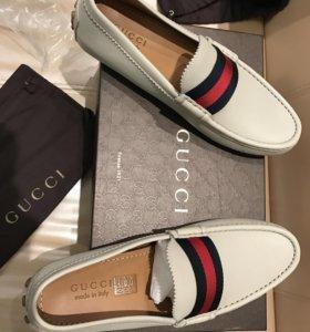 Мокасины Gucci Италия кожа новые