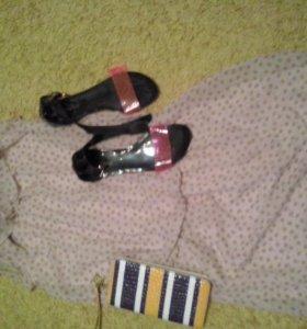 Новое Платье+ босоножки+ клатч
