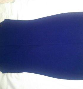 Платье женское zara 42-44 синего цвета
