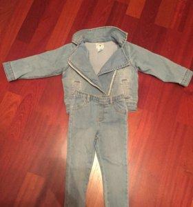 Джинсовый костюм Carters 24m