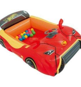 Сухой бассейн Bestway Машина с 25 шариками, Hot Wh