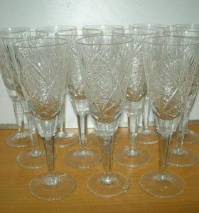 Набор фужеров для шмпанского, h=17см * 12шт