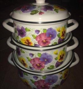 Продам новый набор эмалированной посуды
