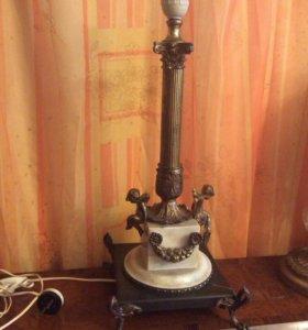 Старинная бронзовая настольная лампа.Франция