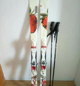 Горные лыжи rossignol scratch trixie с креплением