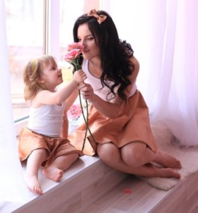 Юбочки на маму и дочку