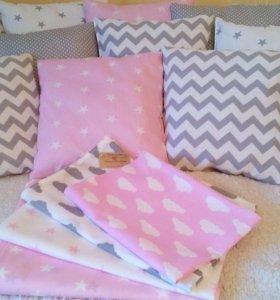 Одеяло-конверт,бортики-подушки и т.д.