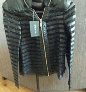 Zara. Кожаная куртка. Новая.