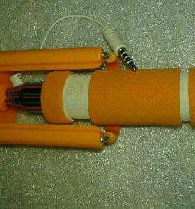 Orange сэлфи палка, монопод