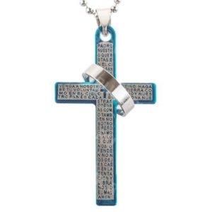 """Подвеска """"Крест с кольцом"""""""