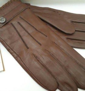 Новые мужские перчатки нат.кожа