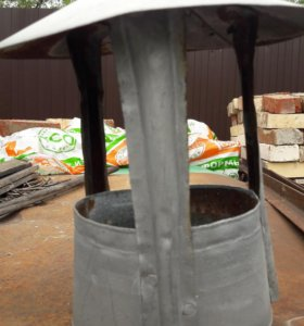 Оцинкованный зонт на трубу
