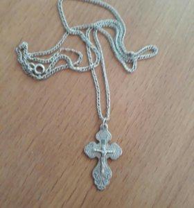 Продам цепочку и крестик