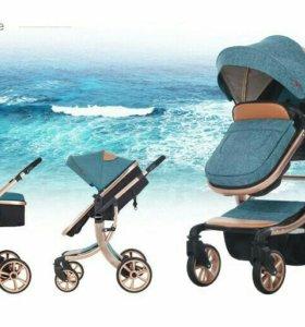 Детская коляска новая, 2 в 1