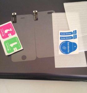 Комплект защитных стекол для iPhone 5/5s/SE