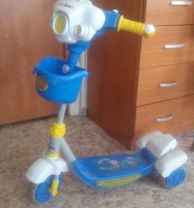 Детский 3-колесный самокат