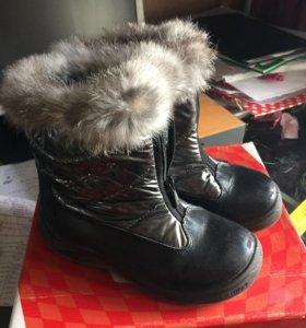Сапоги зимние для девочки р32