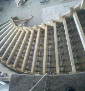 Изготовление монолитных лестниц любой сложности