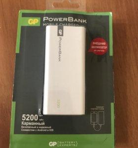 Внешний аккумулятор GP 1C05AWE 5200 mAh, White