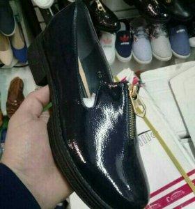 Лоферы женские ботинки новые