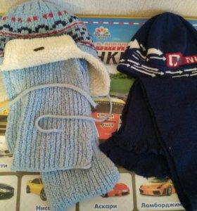 Комплекты Шапки, шарфы зима и осень