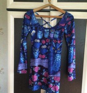 Платье с совами