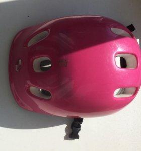 Шлем детский розовый для роликов и велосипеда